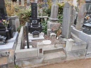 遺品整理だけでなく墓じまいも対応しておりますの施工前