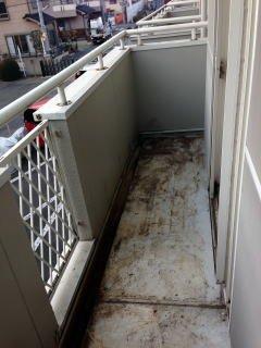アパートテラス清掃の施工後