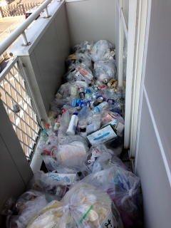 アパートテラス清掃の施工前