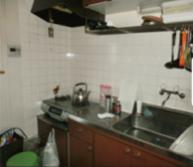 台所の遺品整理の施工前