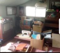 居間の遺品整理の施工前