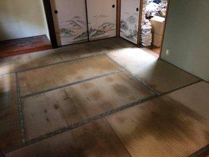 部屋の片付け作業の施工後