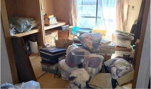 介護施設の入居にともなう家財撤去の施工前