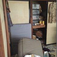 一人暮らしの御老人、6畳2間と3畳1間の長屋の施工前