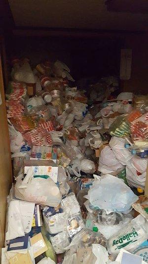 ゴミの量がとても多い現場でしたの施工前
