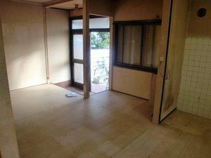 一戸建ての家財整理の施工後