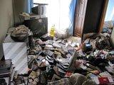 【3DK】ゴミ屋敷の片付け(2階建てマンション2階)の施工前