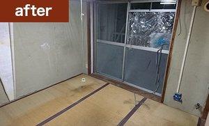 家財整理事例(寝室の場合)の施工後