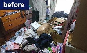 家財整理事例(寝室の場合)の施工前