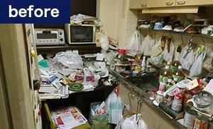 家財整理事例(キッチンの場合)の施工前