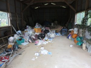 約50m2の物置、農機具、作業小屋の片付けの依頼の施工前