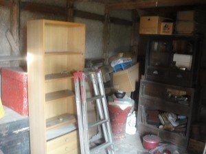 一軒家と蔵の整理の施工前