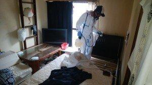 孤独死後の現場での整理の施工前