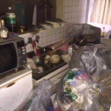 【2K】アパートのゴミ屋敷清掃の施工前
