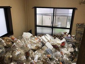 ゴミ屋敷の清掃事例の施工前