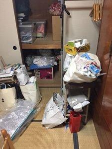 遺品整理と家具移動の施工前