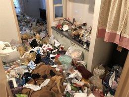 衣類やペットボトルなどの回収の施工前