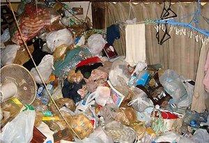 ゴミ屋敷清掃の例の施工前