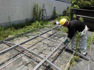 物干し竿の解体の施工後