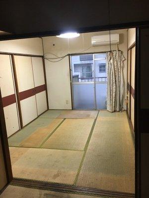 団地の3階部分の遺品整理の施工後
