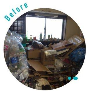【三重県】賃貸物件のゴミ部屋を清掃いたしました。の施工前
