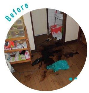 【愛知県】遺品の処分と孤独死現場のクリーニングの施工前
