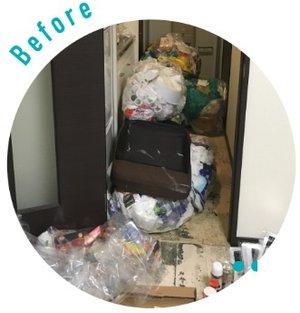 【愛知県】 ゴミ部屋状態となった賃貸住居の掃除をいたしました。の施工前
