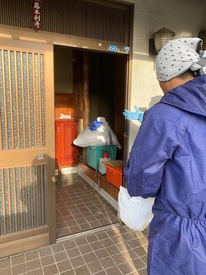 家財処理+特殊清掃(オゾン消臭)の施工前