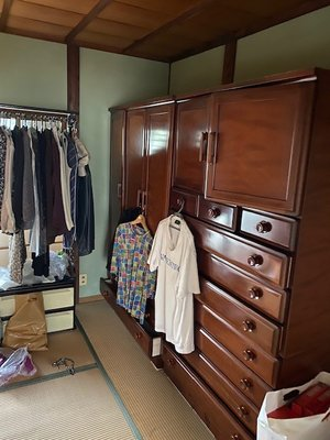 【6LDK】遺品整理 大型家具の搬出処分の施工前