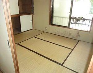 【1K】大きな家財の残るお部屋の施工後