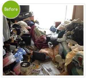 【3DK】ゴミ屋敷清掃:115,000円(税込)の施工前
