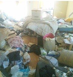 どのような状態のお部屋でも整理いたしますの施工前