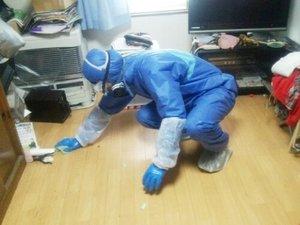 孤独死がおきてしまったお部屋も特殊清掃で除菌清掃いたします。の施工後