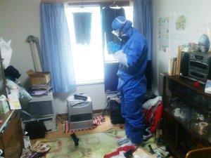 孤独死がおきてしまったお部屋も特殊清掃で除菌清掃いたします。の施工前