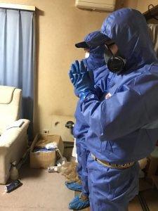 孤独死現場の特殊清掃と消臭の施工前