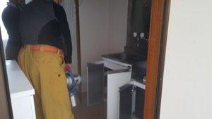 孤独死現場の特殊清掃、残置搬出作業の施工前