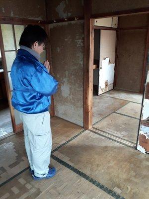 孤独死された平屋アパートの事例:2Kの施工後