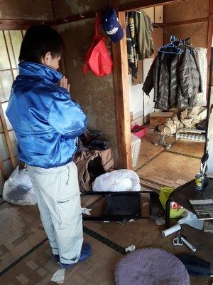 孤独死された平屋アパートの事例:2Kの施工前
