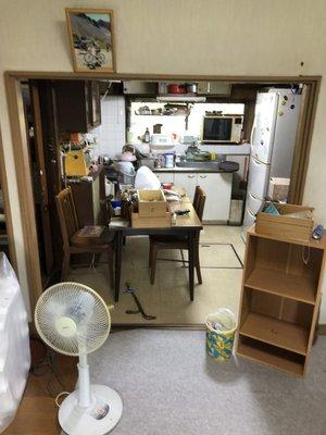 遺品整理と倉庫内の整理のご依頼の施工前