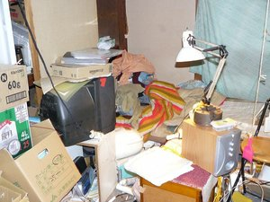 遺品整理とハウスクリーニングの施工前