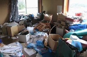 ゴミ屋敷状態の片付けの施工前