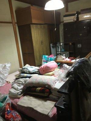 部屋の片付け・整理の施工前
