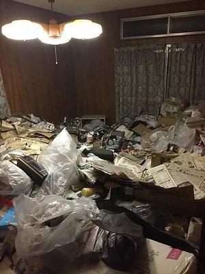 【5DK】川西市でのゴミ屋敷清掃の施工前