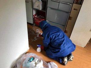 孤独死による特殊清掃とオゾン脱臭の施工後