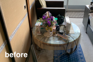 お引っ越しに向けた生前整理(東京都)の施工前