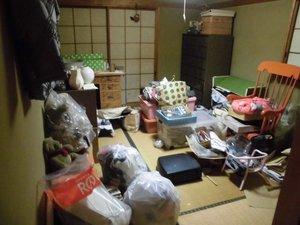 【5LDK】遺品整理と残地物撤去:2日間の施工前