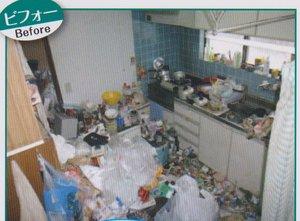 施設入居に伴う整理の施工前