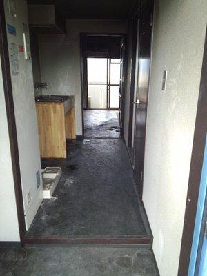火災死亡現場の遺品整理  マンション・1Kの施工後