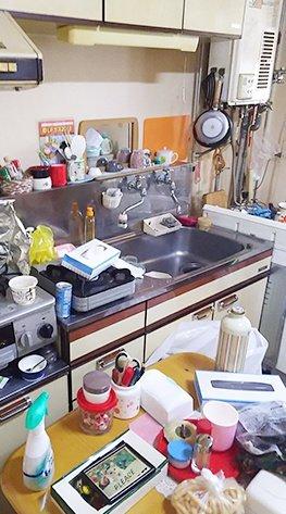 遺品整理(キッチン)の施工前