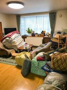 不用品整理(小樽市石山町)の施工前